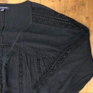 American Eagle Outfitters Dresses - Laced Boho T-shirt Dress